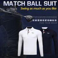 새로운 골프 패션 남성 긴팔 T 셔츠 순수 목화 통기성 골프 가을과 겨울 의류 경쟁 교육 유니폼