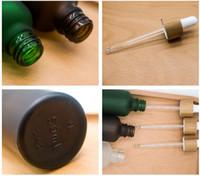 30 ملليلتر بلوري زجاجة الزجاج واضحة الزجاج مع غطاء الخيزران غطاء الزجاج الزجاجي الضروري زجاجة بلوري عطر أخضر زجاجة مجانية
