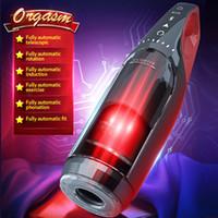 Giocattolo intelligente maschio automatico che succhia riscaldamento e telescopico tazza di aeromobile rotante tazza elettrica tazza del sesso giocattoli per gli uomini