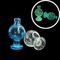 25mmod Nouvelle bulle de verre lumineuse Capuchon de glucides en verre bleu vert Casquettes Casquettes Casquettes Casquettes Fumeurs pour Biseled Edge Quartz Banger Nails Dab