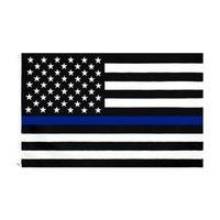 İnce Mavi Çizgi Bayrak Amerikan Polisi Bayraklar 3x5ft ABD Trump Hayranları için Genel Seçim Ülke Banner