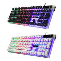 Keyboard with Round Keycaps for PC Laptop Backlit Keyboard f...