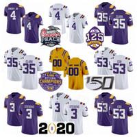 남성 청소년 여성 NCAA 대학 LSU 타이거스 축구 25 Cordale Flott 뉴저지 35 Damone 클라크 (53) Jabril 콕스 4 존 에머리 자코 스티븐스