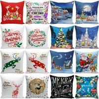 Natale LED federa 45 * 45cm peluche Cover Casa Divano decorativo Getta federa illuminato creativo copertura del cuscino KKA1841