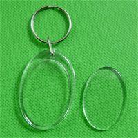 독창성 DIY 키 버클 스튜디오 아크릴 플라스틱 사진 프레임 키 체인 심장 모양의 사각형 열쇠 고리 투명 새로운 도착 0 26DY m2