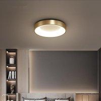 LED 천장 조명 황금 검은 노르딕 침실 램프 현대 미니멀 러시아 황동 로맨틱 욕실 연구 실내 조명기구 -L