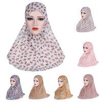 Этническая одежда One Piece Amira Женщины Мусульманские Hijab Niquabs Шарф Исламские Головные Уидравые Шали Шали Headword Шляпа Полный Крышка Headscarf Prinrt Средний EA