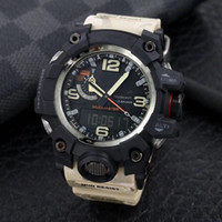 뜨거운 판매 GG1100 큰 진흙 킹 스포츠 디지털 남성 시계 시계 캐주얼 전자 시계 모든 기능을 시청할 수 있습니다