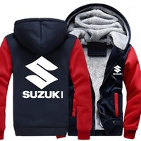 2018 Sonbahar Kış Suzuki Hoodie Kazak Reklam Ceket Kalınlaşma Mont Fermuar Polar Komik Ceket Sweatshirt1