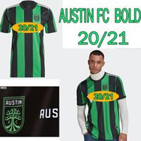 Austin FC Soccer Jerseys 2021 2022 Novo Inaugural MLS Bold Home Preto Verde Dario Conca Baez Kleber Xavier Homens Kits Futebol Shirts Uniformes