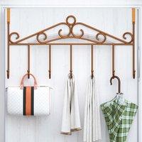 Free-Punch Bathroom Key For Clothes Holder Door Towel Hat Hooks Creative Hanger Door Coat Kids Bedrom Holder Hat Back Storage Itbhl