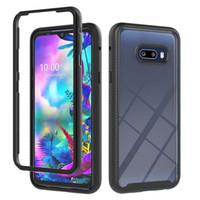 Hot Selling Black Black Dos Capa 360 Protection Transparente Threapproom Funda Teléfono para LG G8X Thinq