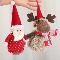 زينة عيد الميلاد الحلي هدية القماش سانتا كلوز ثلج الأيائل دمية شنقا شجرة عيد الميلاد للمنزل decoracion نافيداد hogar1