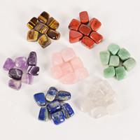 Natürlicher Kristallstein Unregelmäßige 7pcs Set Heilkristalle Chakra Jade Yoga Energie Bunte Agate Hauptdekoration Kleines Zubehör 6 5 Dy M2