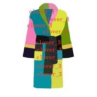 Luxury classic cotton bathrobe mens sleepwear women designer kimono warm bath robes h ome wear unisex bathrobes klw1739