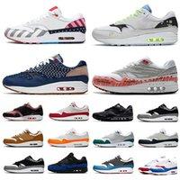 87  2018 Nova Chegada 1 DLX ATMOS Calçados Casuais Animal Pack 1s leopardo gra Men Maxes Mulheres Clássico Athletic Zapatos Formadores tamanho 36-45
