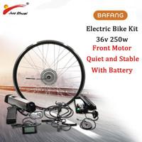 BAFANG 36 V 250 W Elektrikli Bisiklet Dişli Fırçasız Hub Motor Ön Tekerlek Dönüşüm Kiti 36 V 12AH E Bisiklet Pil Yapımı Samsung Cell1