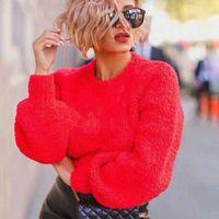 """""""Alta calidad"""", rosa, rojo y azul lana de lana de lana, letra simple, suéter simple de señoras, cómodo multiusos, sin correo. Si usted"""