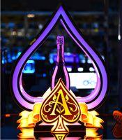 Пользовательский логотип прославляет Показать VIP Услуги Туз Spade бутылки шампанского Presenter для ночного клуба Lounge Bar Wedding Party КТВ