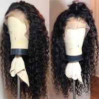 اللون طويل الأفرو غريب مجعد الشعر الرباط الباروكة الجبهة Gluless مقاوم للحرارة الاصطناعية حق لمة الجزء للمرأة السوداء الجانبية الجزء