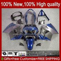 Bodys pour Honda VFR 800R 800 RR VFR800RR Intercepteur 1998 1999 00 01 99HC.160 VFR800R VFR800 98 99 2000 2001 Kit de carénage ABS Bleu Noir Nouveau