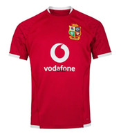 Top Quality 2020 2021 British Irish Lions Rugby Jersey 20 21 British Lions Rugby Home Training Camicia da allenamento Dimensione S-3XL Mens