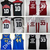 NCAA 2012 Team USA Lower Merion 33 Bryant Jersey كلية رجالية المدرسة الثانوية كرة السلة Hightower Crenshaw Dream أحمر أبيض أزرق مخيط 8 24 10