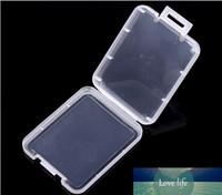 CF Card boîte boîtier en plastique transparent Porte-carte mémoire standard boîte blanche MS cas de stockage pour TF micro XD cas de carte SD