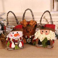 Счастливого Рождества 2020 Украшения для дома Мультфильм Снеговик Санта-Клаус Подарочные Сумки Apple Candy Упаковка Regalos Navidad Dropship # 1