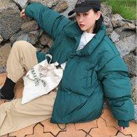 Женские пуховые Parkas короткое хлопок мягкое пальто женский корейский стиль куртка зимний студент хлеб свободный повседневная зима1