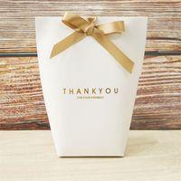 شكرا لك هدية التفاف حقيبة كرافت ورقة أسود أبيض 3 ألوان الحلوى مجوهرات لعبة التعبئة مربع مهرجان الحاضر حقيبة التخزين جديد وصول 0 59ly l2