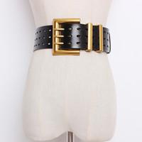 مشد حزام زائد حجم مصمم أحزمة للنساء جودة عالية جلد طبيعي كل مباراة الخصر cummerbunds واسعة cinturon موهير