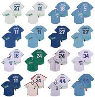 Vintage 16 Bo Jackson Jersey 5 George Brett 11 Bo Bichette 44 Hank Aaron Vladimir Guerrero Jr. Ken Griffey JR 34 Nolan Ryan Retro Baseball