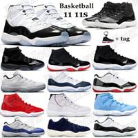 retro Concord 11 11 s dos homens de basquete sapatos espaço jam platina matiz ginásio alto vermelho como ganhar 96 xi shoes esportes snerkers eua 5-11