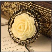 Vendite calde di alta qualità vintage collane collana pendente collana fatta a mano catena moda rosa ciondolo gioielli gioielli spedizione gratuita PS0751