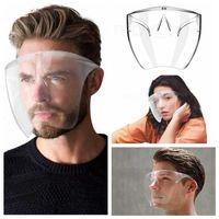 Безопасность FaceShield с очками рамка прозрачный полноценный крышка для лица защитная маска анти-противотуманного лица щит четкие дизайнерские маски р