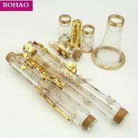 Klarinette Bb SCHLÜSSEL Klarinette Kit reales Gold überzogene Teile Case / Fett / Reinigungstuch