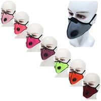 패션 디자이너 안면 보호 먼지 증명 보호 입 마스크를 연기 호흡 밸브 필터 코어 5 레이어를 방지 필터 마스크 6 2WD L2
