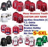 S-6XL All Star Washington Capitals Hockey maglie John Carlson Ilya Kovalchuk Nicklas Backstrom Jakub Vrana Richard Panik personalizzato cucito