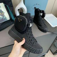 Nuovo Design Men Donne Wheel Wheel Nylon High Top Sneakers Tripla Black Bianco Moda Casual Scarpe Casual Mens Piattaforma Fornitori Taglia 35-45