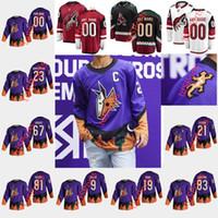Arizona Coyotes 2021 Reverse Retro Hockey-Trikots 91 Taylor Hall Jersey Phil Kessel Shane Doan Clayton Keller Darcy Kuemper Custom genest näht