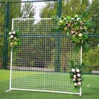 الحديد مربع شبكة الزفاف الديكور قوس خطاباتخطابهزوجات عيد ميلاد الحزب خلفية لزهرة بالون الباب رف الزفاف خلفية حامل