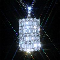 VagzzEB 2020 Yeni Trendy Gümüş Renk Kadınlar Için Tam CZ Kolye Kolye Gümüş Renkli Jewelry1