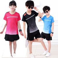 shirt tennis féminin, chemise de badminton garçons, costume de badminton enfants, costume de badminton, short jupe de tennis, T-shirt, tennis de table