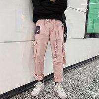 Houzhou Harajuku Giapponese Plus Size Donne Donne Pantaloni Cargo Pantaloni Joggers Streetwear Harem Stampa Elastico Pocket Pocket Tasca Caviglia Pantalon Y200114