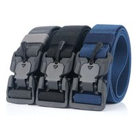 Moda cinto cintos táticos nylon homens cinto pesado fivela magnética ajustável militar exército mulheres cinto ao ar livre rápido lançamento jeans cinta