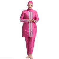 Vêtements ethniques Plus Taille Banadores Mujer 6XL Maillots de bain Hijab mayo Modest Baignage Maillot de bain Muslim Long Burkini Femmes Nager islamique