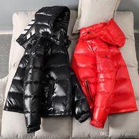 Black Bright Down Jacket Men and Women New New Trendy Brand Winter Peluche Abrigo grueso