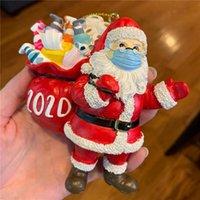 Рождество Санта-Клаус Смолы Подвеска 3D Смола Сант елочных украшений Дети подарки Подвеска Рождество украшение