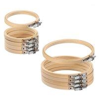 Palavras de costura ferramentas 10 pçs / set 8-30 cm de madeira bordado aros quadro conjunto bambu anéis de aro para diy cruz stitch agulha ferramenta de artesanato1